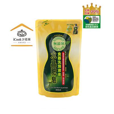 南僑水晶肥皂食器洗滌液体補充包800ml