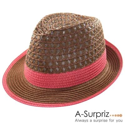 A-Surpriz 英倫休閒風格伸士帽(品味咖)