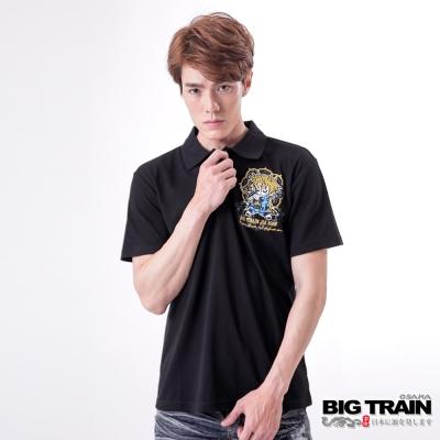 BIG TRAIN 赤青家將家徽POLO衫-男-黑色
