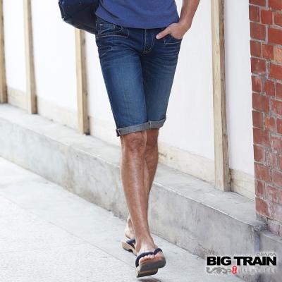 BIG TRAIN 經典丹寧短褲-男-深藍