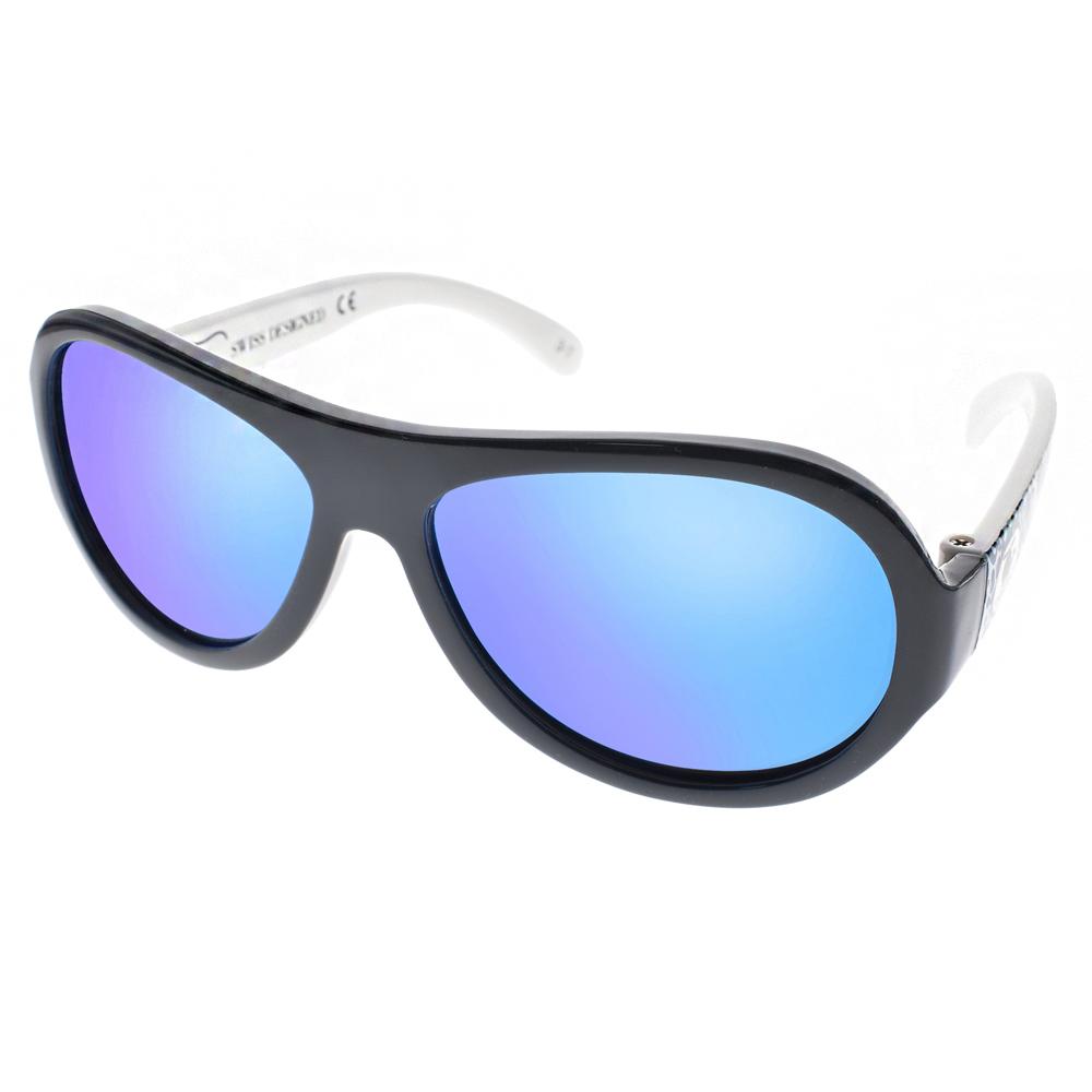 SHADEZ兒童太陽眼鏡無毒可彎曲黑藍迷彩-藍水銀SH15SHZ3 C42