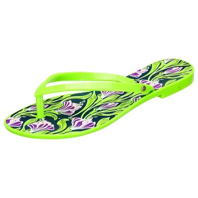 MELISSA +吳季剛合作款和風花繪夾腳鞋-綠