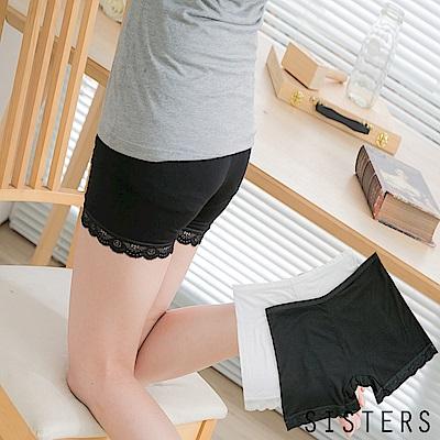 蕾絲勾花莫代爾棉質安全褲-SISTERS