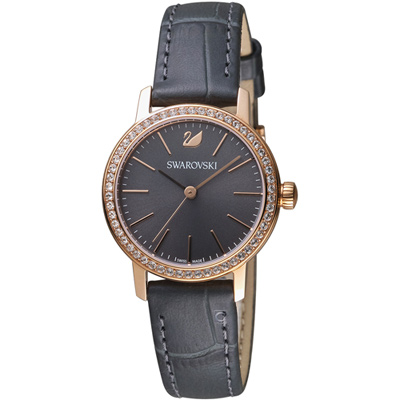 施華洛世奇SWAROVSKI GRACEFUL MINI璀璨耀眼時尚腕錶-29mm/灰色