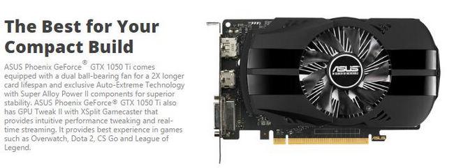 華碩 ASUS PH GeForce® GTX 1050 Ti 4GB 顯示卡