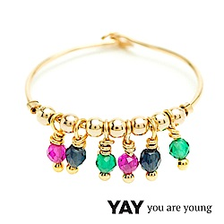 YAY You Are Young Frida 寶石花束戒指 流蘇款 彩鑽X星辰豆豆