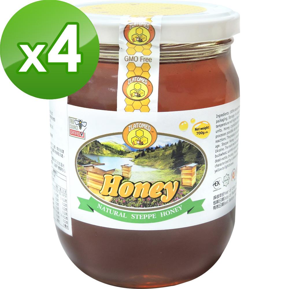 BuDer 標達 100%純淨天然草原蜂蜜(700g/罐)*4件組