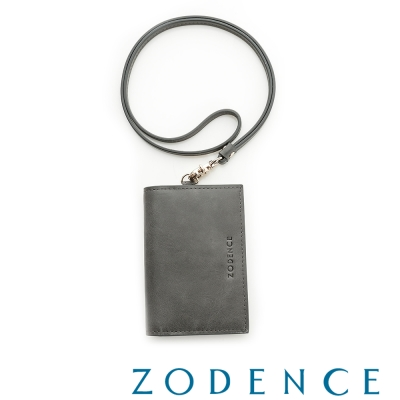 ZODENCE-土耳其牛皮名片證件套-灰