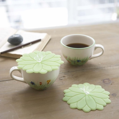 YAMAZAKI 花語蝶杯蓋-綠