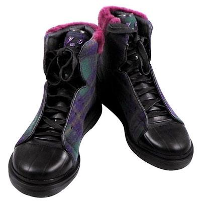 Y-3山本耀司 蘇格蘭紋雙色拼接中筒造型靴-男款【US 7.5~10號】