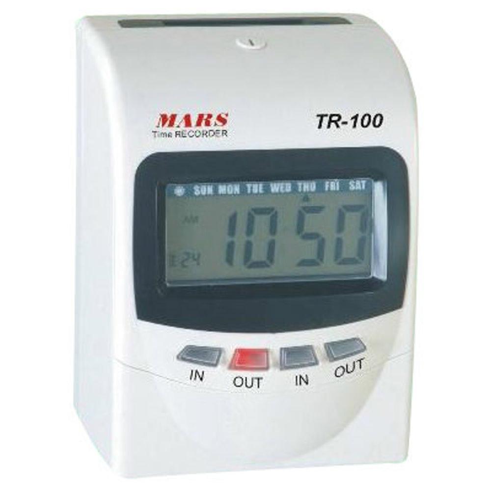 MARS TR-100 四欄位變色螢幕微電腦打卡鐘 同Vertex款 贈考勤卡100張+10人份卡匣