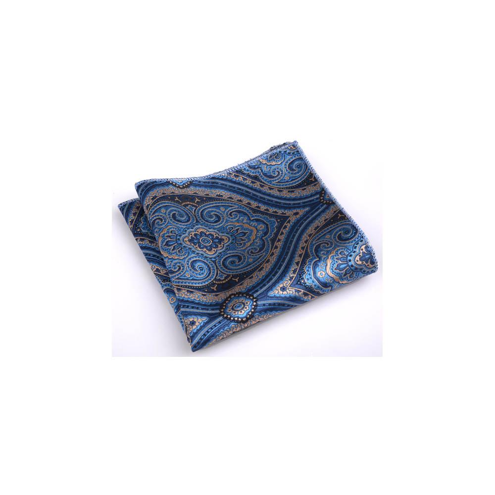 拉福 龍族西裝口袋巾裝飾新郎晏會 (藍底)