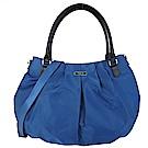 agnes b.橢圓標扇形肩/斜背包-大/土耳其藍