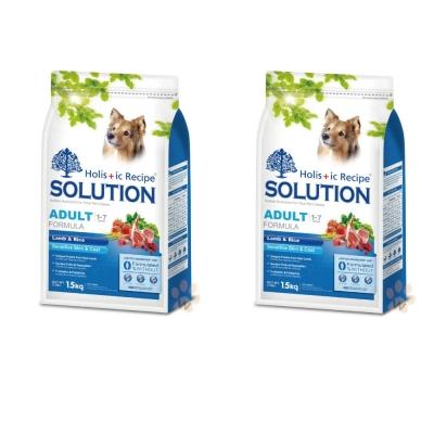 耐吉斯SOLUTION 成犬 羊肉田園蔬菜 小顆粒配方1.5kg (2包組)