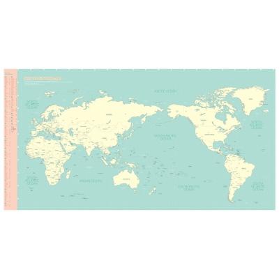 Indimap 環遊世界世界地圖海報(改版-雙層)-07薄荷綠版