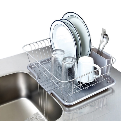 (促銷)日本ASVEL流理台餐盤收納架附瀝水盤