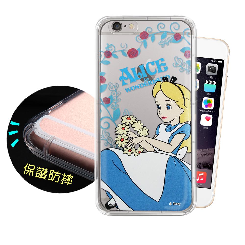 迪士尼正版iPhone6 6S Plus 5.5吋花系列空壓安全手機殼愛麗絲