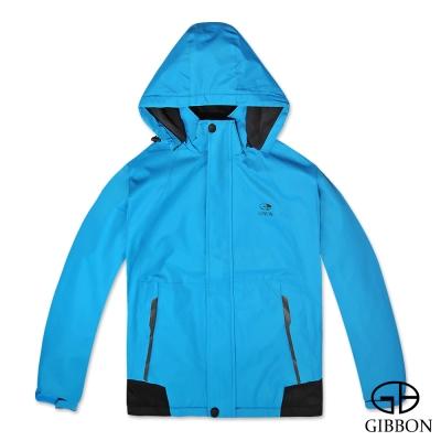 GIBBON 防風防水刷毛機能外套‧湛藍