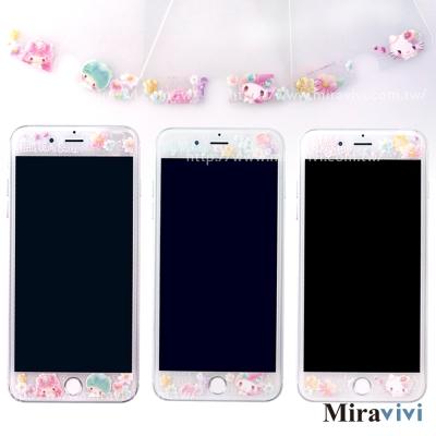 三麗鷗iPhone6/6sPlus/7Plus共用繁花彩繪玻璃保貼