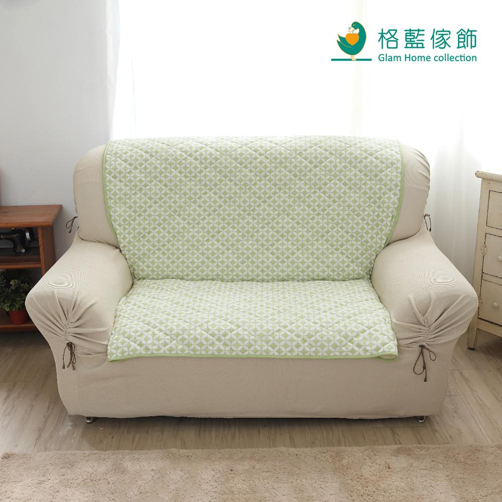 格藍傢飾 北歐風幾何沙發墊3人座-青草綠