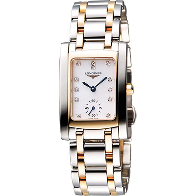 LONGINES DolceVita 18K真鑽獨立小秒針腕錶-22.4mm