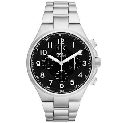 FOSSIL 領袖資格三環計時腕錶-CH2902/45mm