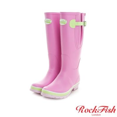ROCKFISH 糖果色霧面長筒雨靴 撞色系列 夢幻粉