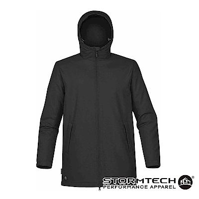 【加拿大STORMTECH】SPK-1防撥水細刷毛長版機能外套-男-黑