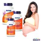 NOW健而婷 呵護孕媽咪套組(孕寶錠-葉酸B12+卵磷脂+肌醇)