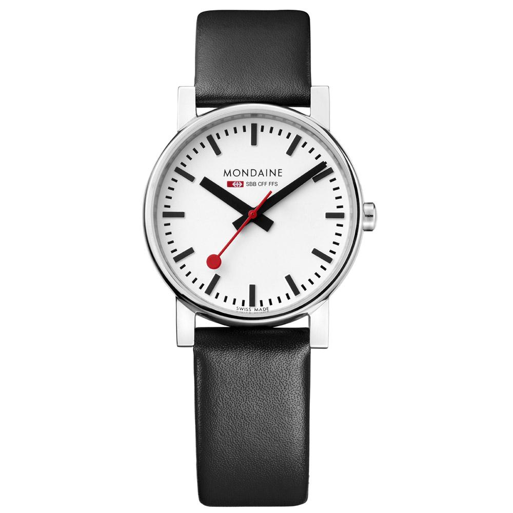 MONDAINE 瑞士國鐵經典腕錶-白/35mm