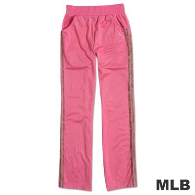 MLB-紐約洋基隊電繡動物紋運動長褲-粉紅(女)