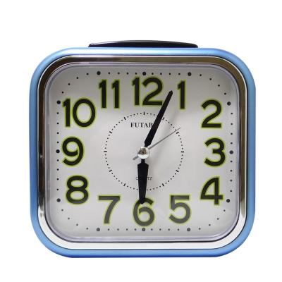 FUTABA時尚超大鐘面靜音鬧鐘 W-739 (藍色)