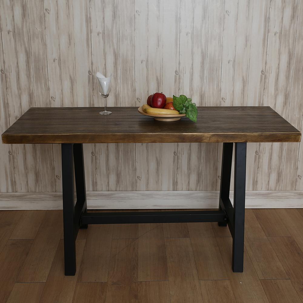 微量元素 手感工業風原木長方桌