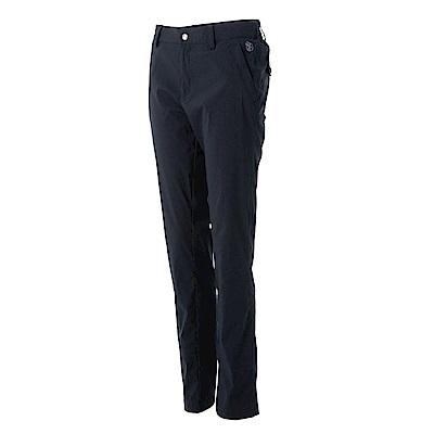 【Wildland 荒野】女彈性透氣抗UV合身長褲黑
