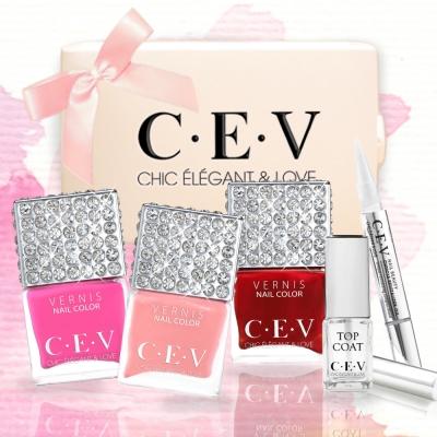 CEV-早春保養 任選三色送指緣油精露筆+亮甲油