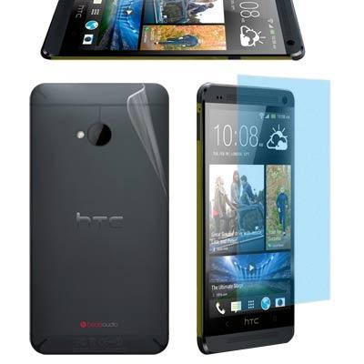 NEW HTC ONE M7 霧面螢幕貼+機身(前+後)保護膜(含邊條)-贈鏡頭...