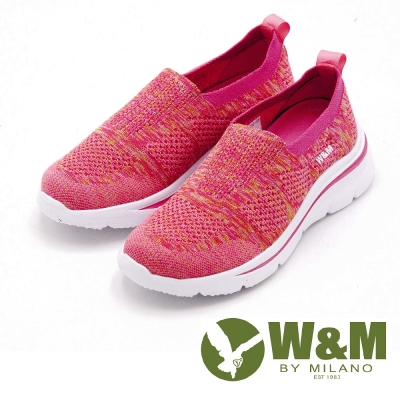 W&M MODARE 飛線編織輕量休閒 女鞋-桃粉(另有黑、灰)