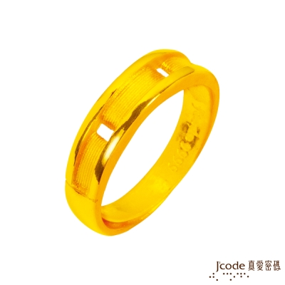 J'code真愛密碼 真愛誓言黃金男戒指