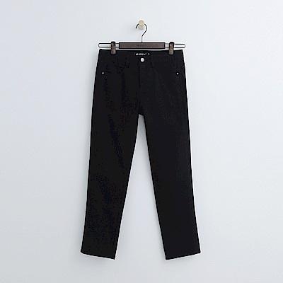 Hang Ten - 女裝 - 側邊繡花修身長褲-黑色