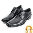 GEORGE 喬治-經典系列 素面牛皮小方楦紳士鞋皮鞋(男)-黑色