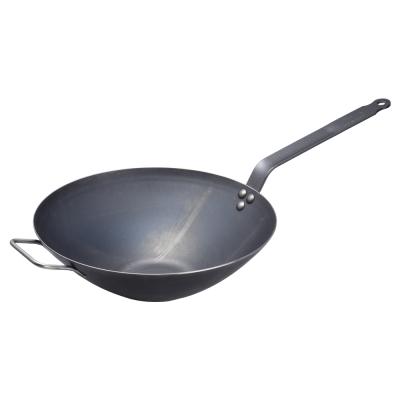 De Buyer 法國畢耶輕礦藍鐵中式炒鍋32cm