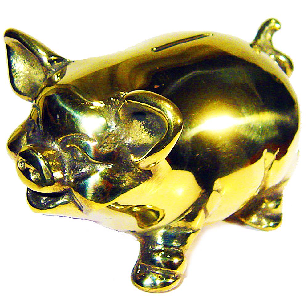 開運陶源【金存錢豬】 豬銅雕(撲滿)存錢筒