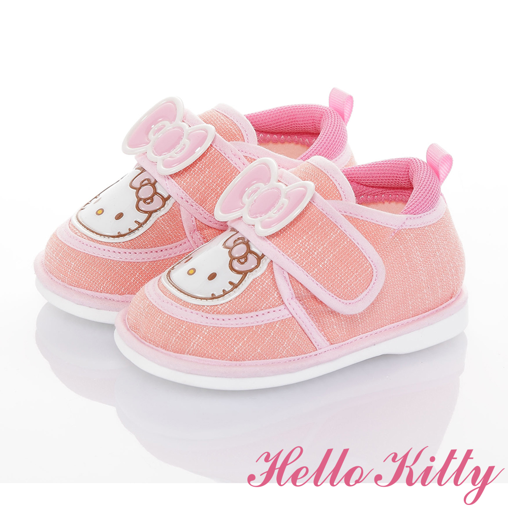 HelloKitty童鞋 輕量減壓寶寶學步嗶嗶鞋-粉