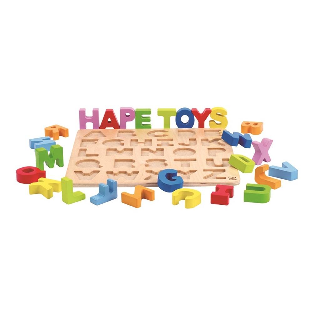 德國Hape愛傑卡 ABC大寫立體木拼圖
