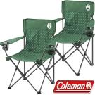 Coleman CM-26735_圓點綠 渡假休閒椅(2入)/野餐桌椅/露營椅 公司貨