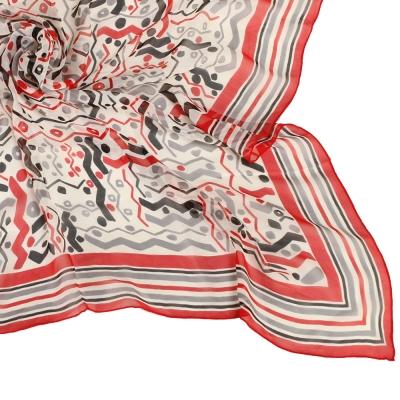 Christian Dior 繽紛彩帶嘉年華大領巾-紅