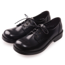 (女)日本 HARUTA 3孔綁帶學生鞋-黑色