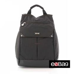 eeBag異素材精緻縫線設計。後背包