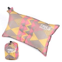 TreeWalker 舒適自動充氣枕頭 -粉紅菱紋