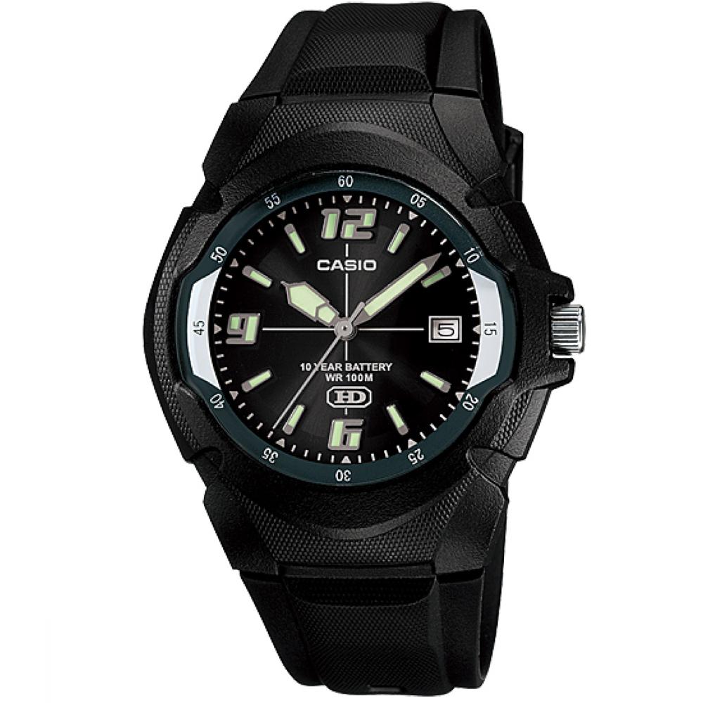 CASIO 新版超時玩家十年電量指針錶(MW-600F-1A)-黑